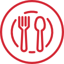 plate spoon and fork icon